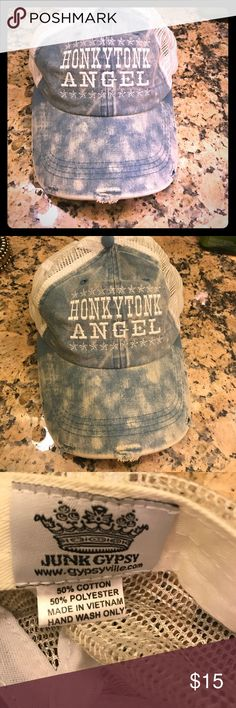 Honkytonk Angel Hat by Junk Gypsy Never worn! Look is distressed.  ✨ I accept offers, but if you lowball me 50% or more of asking price, I will block you.  💕💕Check out my other listings 💕💕 Other