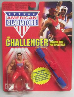 1991 American Gladiators Mattel RED CHALLENGER