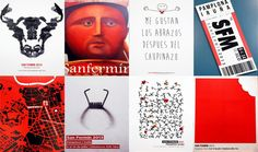 Exposición Carteles de San Fermín San Fermin Pamplona, Photoshop, Illustration, Movie Posters, Advertising, Saints, Vintage Posters, Runes, Exhibitions