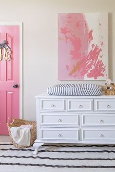 How to Update Your Home Without Renovating - Collected Living Design Shoji White, Side Table Lamps, Ikea Closet, Pink Home Decor, Striped Walls, Barbie Dream House, Selling Furniture, Crib Sheets, Timeless Design