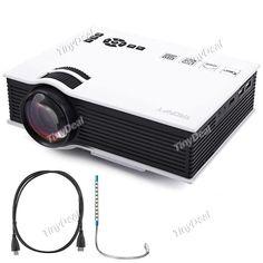UC40 2015 Mini Pico Portable LED Home Theater Projectors + 1.5M HDMI Male Cable + USB Light KB-398140
