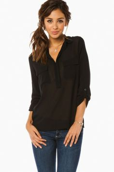 Keener Blouse in Black