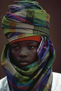 Nigeria. A participant in the Durbah celebrations marking the end of theMuslimfestival of Ramadan. Kano. 1982.