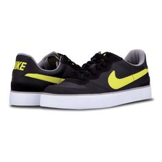 nike tennis black with yellow skin made her colors are black with green glow-their sizes are medium and large is priced at $ 350.76