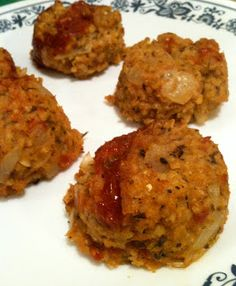 Millet Loaf Balls from our November VegCookbook, Forks Over Knives