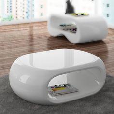 mesa de centro ovalia mesa blanca