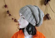 Hey, I found this really awesome Etsy listing at https://www.etsy.com/listing/159639363/knit-hat-slouchy-women-men-beanies-style