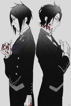 Sebastian and Claude | Kuroshitsuji - Black Butler #Anime #Manga
