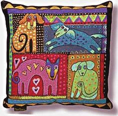 the whimsy of Laurel Burch...throw pillows....have these