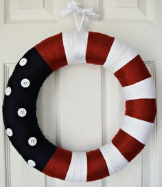 Summer Patriotic Wreath: Red, White & Blue Olympics, Memorial Day, Fourth of July, Labor Day