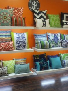 Pillows from the Americas Mart gift show in Atlanta!