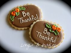 Thanksgiving Cookies by lizybbakes, via Flickr
