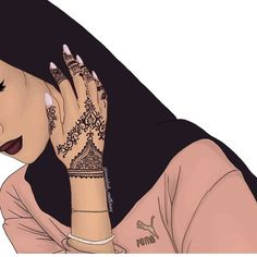 Image about girl in Art by Gutta Gomes on We Heart It – Hijab Fashion 2020 Girly M, Beautiful Girl Drawing, Cute Girl Drawing, Hijabi Girl, Girl Hijab, Hijab Drawing, Hijab Cartoon, Hijab Style, Islamic Girl