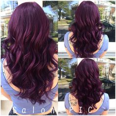 Dark Purple Hair, Plum Hair, Hair Color Purple, Hair Dye Colors, Hair Color And Cut, Cool Hair Color, Violet Hair, Pelo Color Vino, Pelo Color Borgoña