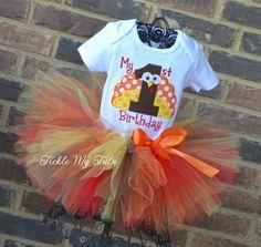 My First Birthday Thanksgiving Turkey Tutu Outfit...www.ticklemytutu.com