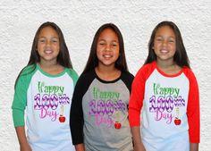 100th Day Tee|Kids T-shirt|Happy 100th Day Baseball Raglan Kids Tee by GavinsAllyeDesigns on Etsy
