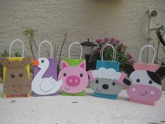 Farm Animal Birthday Party Favor Bags