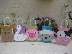 Farm Animal Birthday Party Favor Bags