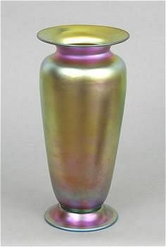 Frederick Carder Steuben Gold Aurene Vase, Circa 20's - American - For sale on Ruby Lane