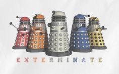 Soft Premium Quality Custom Dr.Who Doctor Who Dalek Exterminate Rainbow Color T-Shirt Tee Tshirt