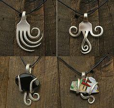 2nd life of forks - bracelet, crafting, DIY, Do-It-Yourself, fork, NECKLACE