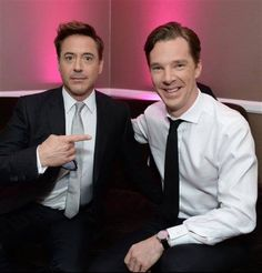 Robert Downy Jr. and Benedict Cumberbatch