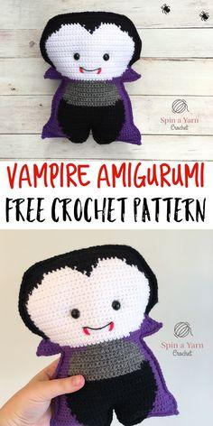Vampire Amigurumi - Spin a Yarn Crochet