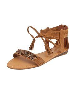 Shop Prima Donna - Salinas Suede Ankle Strap Sandals Tan at Prima donna