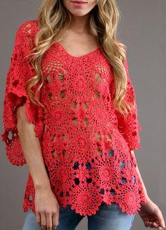 Fabulous Crochet a Little Black Crochet Dress Ideas. Georgeous Crochet a Little Black Crochet Dress Ideas. Crochet Tunic Pattern, Crochet Blouse, Easy Crochet Patterns, Top Pattern, Beach Crochet, Crochet Summer Tops, Crochet Tops, Crochet Bodycon Dresses, Black Crochet Dress