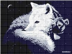 Grille loup blanc