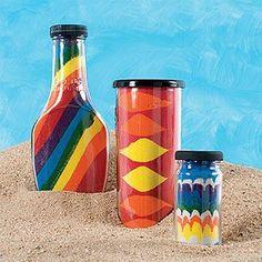 colored sand craft (use homemade colored sand) Sand Art Crafts, Crafts To Do, Crafts For Kids, Arts And Crafts, Diy Crafts, Sand Art Bottles, Sand Painting, Colored Sand, Art Party