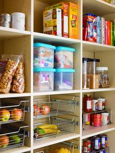 Pantry Organization Made Easy: Whether you're looking to keep dry goods fresh or to group small items together, you can never go wrong with clear, stackable storage containers.  From DIYnetwork.com