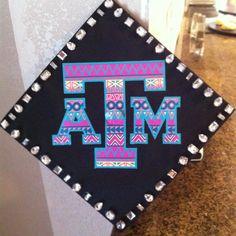 Graduation cap idea for future fightin' Texas Aggies