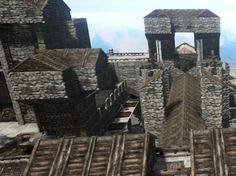 Close Up View Of Castle Base In Ark Survival Evolved.