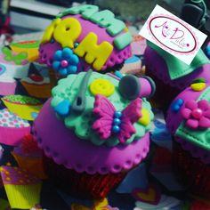 Cupcakes diseños en fondant