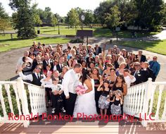 The steps of the Chapel are a excellent photo with the Bride and Groom and all of their guests.
