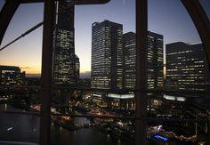 コスモクロック シースルーゴンドラから見える夜景 コスモワールド みなとみらい 横浜