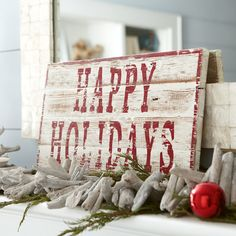 Wayfair - Birch Lane Happy Holidays Plaque