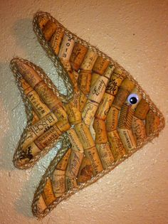 Tropical Fish wall hanging made with real by westernaccentsbymark