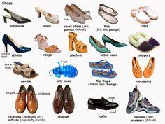 Znalezione obrazy dla zapytania rodzaje butów angielski
