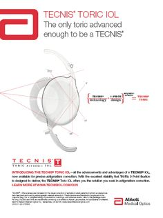 AMO TECNIS TORIC: The only toric advanced enough to be a TECNIS
