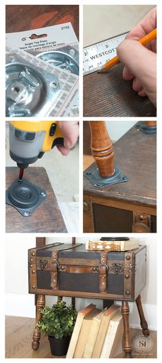 Salvaged Trunk with DIY Angled Legs Top Design - Simple table legs home depot Simple Elegant
