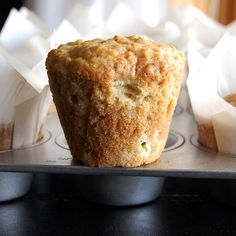 Rhubarb Oatmeal muffins by bourbonnatrixbakes -I made these tonight and they are yummy! I subbed splenda brown sugar and added cinnamon. Rhubarb Desserts, Rhubarb Recipes, Rhubarb Rhubarb, Rhubarb Oatmeal Muffins, Oat Muffins, Muffin Recipes, Baking Recipes, Teff Recipes, Delicious Desserts