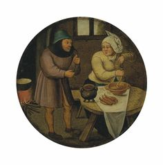 Pieter Brueghel II (Brussels 1564/5-1637/8 Antwerp)   A woman making sausages   17th Century, 16th Century   Christie's