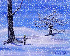 Winter landscape fairy art fantasy art fine art par StacysArtStudio