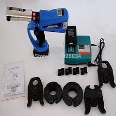 1282.50$  Watch now - BZ-1550 Battery Pipe Crimping Tool for Stainless Steel Plumbing Pipe and Copper Pipe with V15,18.22,28,35,42,54 Jaws  #magazineonlinebeautiful