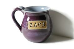 Personalized Mug  Made to Order Stamped with a name by MissPottery