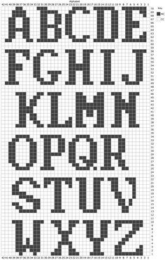Use These Handy Alphabet Charts for Knitting Words or