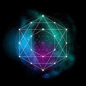 Sacred geometry symbol. Flower of life sign — Vector de stock