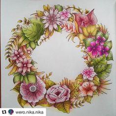 "161 Likes, 4 Comments - Mandalas (@coloring_loves) on Instagram: ""#Repost @wero.nika.nika with @repostapp ・・・ #coloringmasterpieces #coloriage #coloringforgrownups…"""
